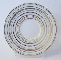 """J.L. Coquet Raynaud Attraction Gold/Platinum Bread & Butter Plate 6¼""""Dia France"""