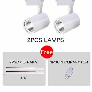 Led Track Light COB Track Lamps Clothing Store Rail Aluminum Spotlights Lighting