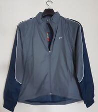NIKE MEN'S ACTIVE GREY NAVY MESH LINED SHELL JACKET CONCEALED HOOD SMALL MENS