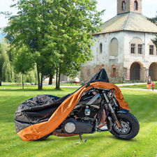 XXL Orange Motorcycle Cover Waterproof For Harley Davidson Street Glide Touring
