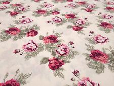 Stoff Baumwolle Popeline Rosen Blumen Blüten zartrosa rosa pink oliv Blusenstoff