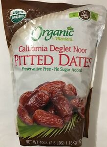 Pitted Dates . Organic By Mariani. 40 Oz  ( Free Expedited Shipping)