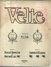 Velie (Take Me Out In A Velie Car) 1911 Large Format Sheet Music