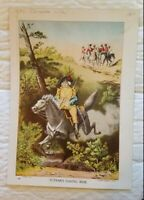 1892 Chromolithograph Print Putnam's Daring Ride Revolutionary War Greenwich CT