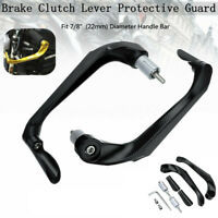 """Universal Motorcycle 7/8""""Brake Clutch Lever Protective Guards Bar Ends Black """""""