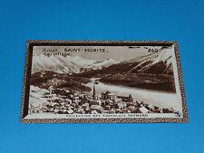 CHROMO PHOTO CHOCOLAT SUCHARD 1934 EUROPE SUISSE SCHWEIZ SVIZZERA SAINT-MORITZ