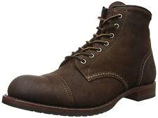 Frye Logan Cap Toe Mens Brown Nubuck Casual Dress Lace up BOOTS Shoes 9