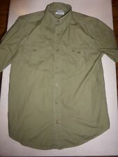 Men's Carhartt Force Relaxed Fit Short Sleeve Button Front Shirt sz Large L