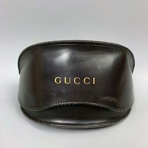 GUCCI Black Clamshell Sunglasses Case Eyeglasses Cover Large