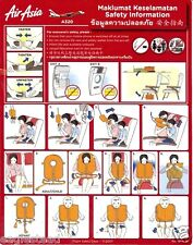 Safety Card - Air Asia - A320 - 2007  (S2761)