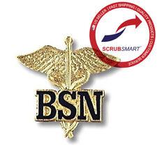 New! EMI BSN Caduceus Bachelors Of Science Nurse nursing Emblem Lapel Pin