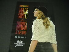 TAYLOR SWIFT congrats from AMERICAN AIRLINES ARENA 2014 Promo Poster Ad mint con