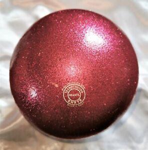 RSG BALL WETTKAMPFBALL Gymnastikball JUNIOR 16 CHERRY Glitter TECHNO RUBBER Neu!