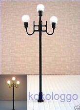 S143 - Set 5 Stück Lampen Straßenlampen nostalgisch 3-flammig 7,7cm Parkleuchte