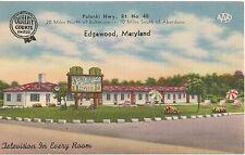El Dorado Motel Edgewood MD Roadside Postcard