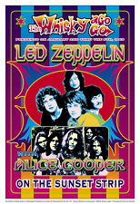 Jimmy Page & Plant Led Zeppelin at Whisky A Go Go Poster 1969 13 3/4 x 19 3/4