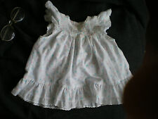 Mothercare girls dress 60cm... white with coloured pastel spots.