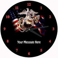 Personalized USMC Wall Clock (Marine Corp.)