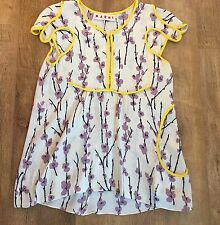 Marni Cream Cherry Blossom Blouse Top Size 38 UK 10