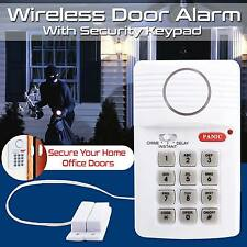 Loud Wireless Door Alarm Security Pin Panic Keypad For Home Office Garage Shed