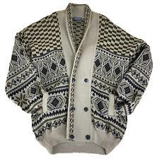Big Lebowski Style Vintage Knit Sweater Cardigan Italian Men's XL / 2XL Costume