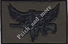 [Patch] UNITED STATES NAVY SEALS oliva special force cm 9x6 toppa ricamo -1156