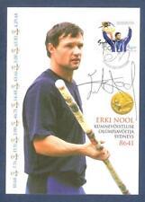 Autograph Erki Nool Olympic Champion decathlon 2000 on special Maxicard