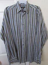 Ermenegildo Zegna Men's Long Sleeve Casual Button Front Striped Shirt XL EUC