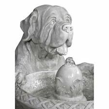 "37.5"" Saint Bernard Dog European Style Bubbling Water Feature Garden Fountain"
