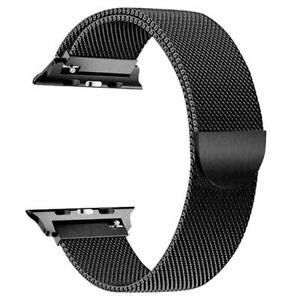 Strap Replacement for Apple Watch Metal Mesh Band for 38mm 40mm 42mm 44mm