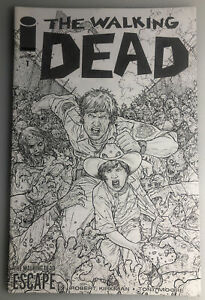 THE WALKING DEAD #1 ESCAPE IMAGE JUAN JOSE RYP SKETCH VARIANT KIRKMAN SKYBOUND