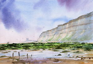 RECULVER, KENT, A READY TO FRAME PRINT FROM A WATERCOLOUR BY D. Bailey