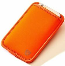 """Syb Phone Pouch, Emf Protection Sleeve for Cell Phones up to 3.25"""" Wide, Orange"""