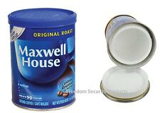REAL MAXWELL HOUSE COFFEE CAN SAFE HIDDEN FAKE SECRET STASH 11.5 oz Diversion