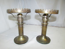 Two (2) Antique Nautical Brass Gimble Lamps Pascall Atkey & Son Cowes 1800s