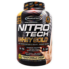 Muscletech Nitro Tech WHEY GOLD Protein 5.5 lb, 77 Servings FRENCH VANILLA CREME