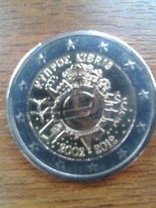 "pièce neuve 2 euros 2012 ""10ans"" chypre"