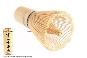 """Japanischer Matchabesen """"Chasen"""" aus weißem Bambus, 120 Borsten"""