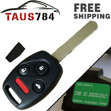 1X Uncut Keyless Replacement Entry Car Remote Fob Chip Key for OUCG8D-380H-A New