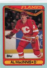 AL MACINNIS 1990-91 TOPPS BOX BOTTOM H Calgary Flames
