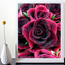 ROSE Full Drill DIY 5D Diamond Painting Embroidery Cross Crafts Stitch Kit US