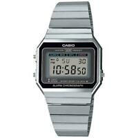 Casio Stile Vintage A700WE-1AEF Quadrante Nero Allarm Cronograph Unisex Steel