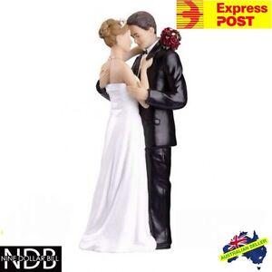 Tender Moment Bride and Groom Wedding Cake Topper New PORCELAIN & FASTPOST