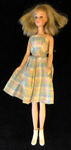Mattel Barbie's Cousin Francie Doll 1965 Blonde Brown Eyes & Rooted Eyelashes