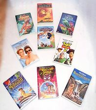 LOT of 9 DISNEY VHS movies - Cinderella, Lion King, Toy Story, Fantasia, Mermaid