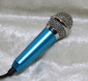 1/3 1/4 Miniature mini microphone mic BJD SD doll prop music instrument Blue