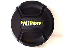 72mm Snap on Center Pinch Lens Cap Dust Cover Protector For Nikon New