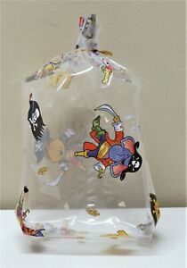 """LOT 10 LARGE """"PIRATES"""" CLEAR CELLO GOODIE TREAT BAGS WITH GOLD TWIST TIES"""