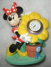 """Verichron """"Collectible Timepiece"""" Disney Minnie Mouse with Flower Mini clock"""