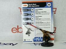 A Star Wars Miniatures Darth Maul Sith Apprentice & Card